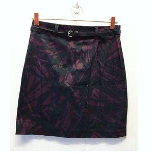 Forever 21 | Belted Pencil Skirt Back Slit Purple